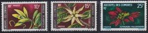 Comoro Islands 80-82 MNH (1969-1970)