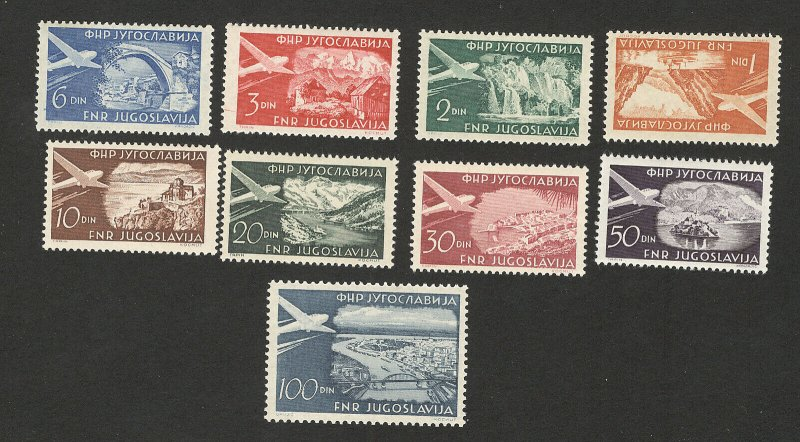 YUGOSLAVIA-MNH SET-AIRMAIL, PLANE -1951.