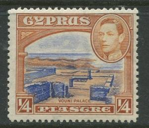 Cyprus - Scott 143 - KGVI Pictorial Definitives -1938 - MNH - Single 1/4pi Stamp