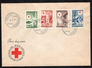 Flinland  B94 -B97 first day cover red cross cover