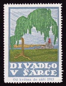 REKLAMEMARKE POSTER STAMP CZECHOSLOVAKIA DIVADLO V ŠÁRCE OD KVĚTNA DO ZÁŘÍ 1913
