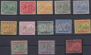 Anguilla stamp Definitive set Hinged Used 1920 Mi 24-36 WS148625