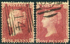 SG42 1861 1d Reds Plate 50 and 51 (QE) Matched Lettering