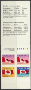 Canada SG 1350ba Mint  SC# BK111A  Flags perf 12½ x 13 booklet  see details