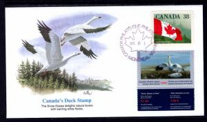 Canada Unitrade FWH5 Duck Stamp Fleetwood U/A FDC