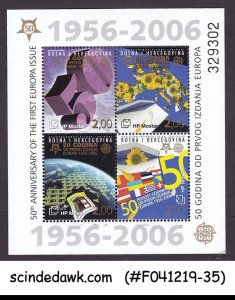 BOSNIA HERZEGOVINA - 2006 50yrs OF 1st EUROPA ISSUE MIN/SHT MNH