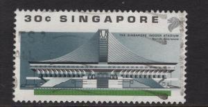 Singapore   #556   used   1989  sports  indoor stadium