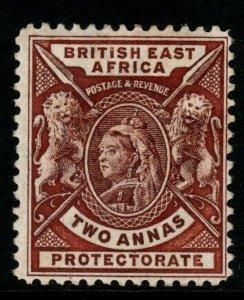 BRITISH EAST AFRICA SG67 1896 2a CHOCOLATE MTD MINT