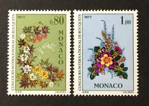 Monaco 1976 #1047-8,MNH, CV $3.75