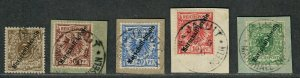 German Marshall Islands Sc#1//6 Used/VF, Signed Stamps, Cv. $2335