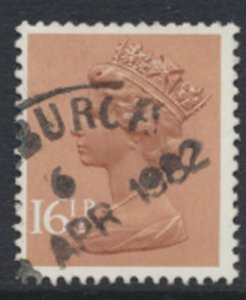 GB  Machin 16½p X950   Phosphor paper  Used  SC#  MH95  see scan and details