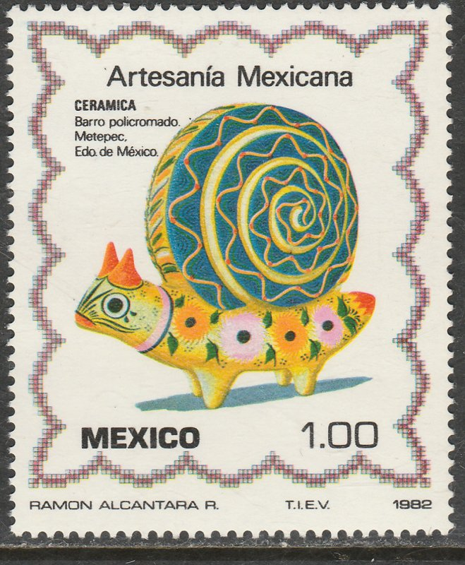 MEXICO 1268, Arts and Crafts MINT, NH. VF.
