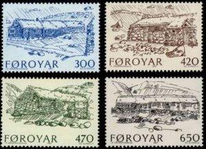 Faroe Islands #152-155 Fa147-150 MNH CV$6.30