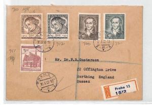 BU73 1953 Czechoslovakia Prague Airmail Cover PTS