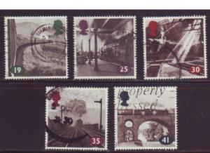 Great Britain  Sc 1533-7 1994 Age of Steam stamps used