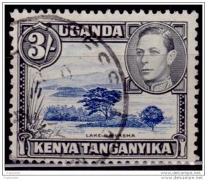 Kenya, Uganda & Tanganyika 1938-54, KGVI Definitive, 3sh, Scott# 82, used