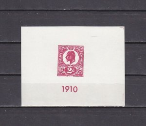 Great Britain, 1985 Local issue. 1910 Stamp s/sheet. ^