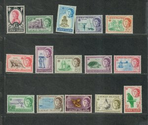 Cayman Islands Sc#153-167 M/NH/VF, Cv. $91