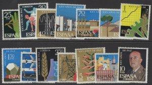 SPAIN SG1637/50 1964 25th ANNIV OF END OF SPANISH CIVIL WAR MNH