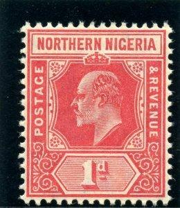 Northern Nigeria 1910 KEVII 1d carmine superb MNH. SG 29. Sc 29.