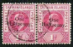 Cayman Is SG17 KEVII One Halfpenny on 1d Nov 26 1907 CDS