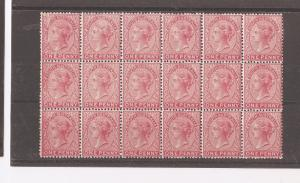 South Australia 1d SG 176 block of 18 most MNH, some MLH, some splits (dbs)