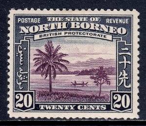 North Borneo - Scott #202 - MH - Hinge thin - SCV $14