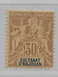 Anjouan 12 Navigation & Commerce single FOURNIER FORGERY MNH FOR REFERENCE