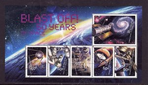 Australia-Sc#2742-unused NH sheet-International Space Station-Sputnik-2007-