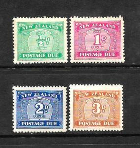 NEW ZEALAND  1939  POSTAGE DUE  SET 4  MNH/MH/MNG