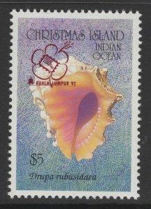 CHRISTMAS ISLAND SG366 1992 KUALA LUMPUR INTERNATIONAL EXHIBITION MNH