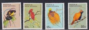 Papua New Guinea # 301-304, Birds of Paradise, NH, 1/2 Cat.