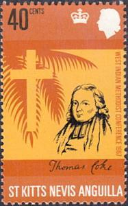 St. Kitts-Nevis # 187 mnh ~ 40¢ Thomas Coke, Cross and Palm