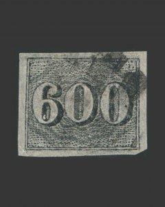 VINTAGE: BRAZIL 1849 USED,LH SCT # C18 $ 182 LT # BR1890