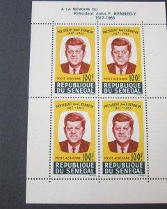 Senegal 1964 Sc C40a John F Kennedy set MNH