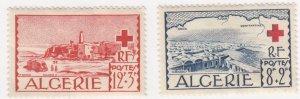 Algeria, Sc B67-B68 (2), MNH, 1952, Red Cross, Fault: Slight Water Damage
