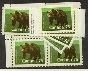 Canada - 1989 76c Grizzly Bear X 10 VF-NH #1178