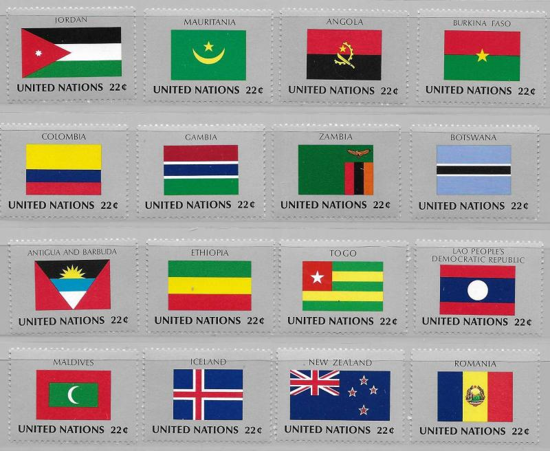 United Nations 477-92 Flags set MNH