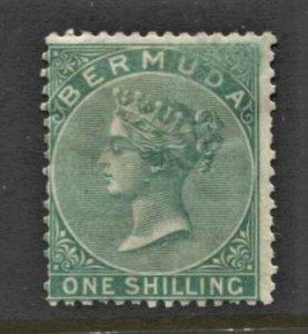 STAMP STATION PERTH Bermuda #6 QV Definitive MH Wmk.1 CV$450