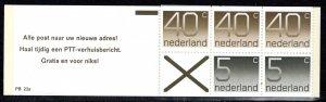 Netherlands Scott # 536d, mint nh, cpl. stamp booklet,  se-tenant