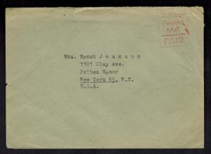 1947 Braunschweig Germany Displaced Person DP Camp # 297 Cover to USA H Kadakas
