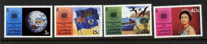 Cayman Islands 510-3 MNH Commonwealth Day, Flags, Birds, Boats, Globe