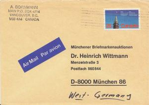 Canada 25c Peace Tower Parliamentary Conference c1978 Vancouver, B.C. Airmail...