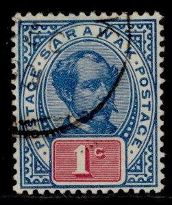 SARAWAK QV SG36c, 1c dull blue & carmine, FINE USED.