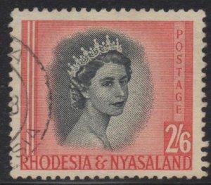 Rhodesia & Nyasaland - 1954 QEII 2s6d Used SG 12