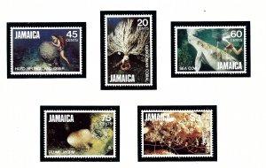 Jamaica 523-27 MNH 1982 Marine Life