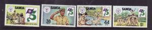 Samoa-Sc#575-8-Unused NH set-Boy Scouts-1982-