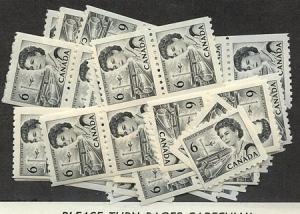 Canada - 6c Black Centennial Coil X 85 mint #468B