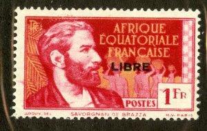 FRENCH EQUATORIAL AFRICA 109 M DIST GUM SCV $4.00 BIN $1.25 PERSON