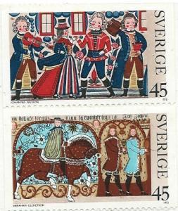Sweden MNH 1023-4 Christmas 1973